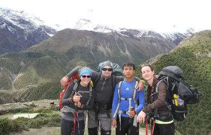 Trekking picture in annapurna region