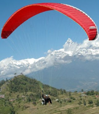 Paragliding in nepal from sarangkot hill