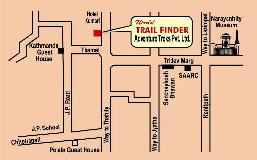 World Trail Finder Adventure Location Map